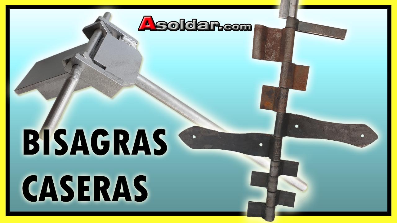 Máquina para fabricar bisagras rústica/caseras