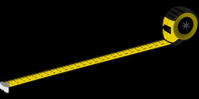 Metro para medir flexómetro para cálculos matemáticos y medir en la construcción